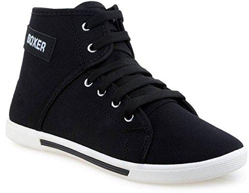 debb3429e85 Allez Kros Boxer Men s Canvas Casual Black Shoes  Buy Online at Low ...