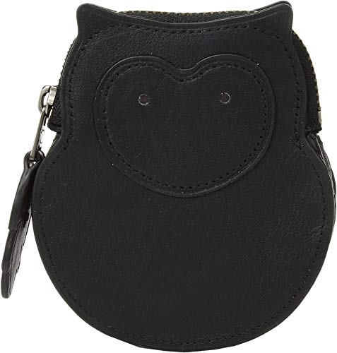 COACH Women's Owl Coin Case V5/Black One Size ()