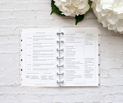 BetterNote Cleaning Schedule for the Mini Happy Planner, Fits 7-Disc Notebook, Create 365 Planner Pages, 4.625