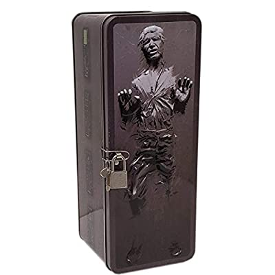 The Tin Box Company 345507 Han Solo Star Wars XL Frozen in Carbonite Tin Bank with Coin Slot, Lock & Key, Grey: Toys & Games