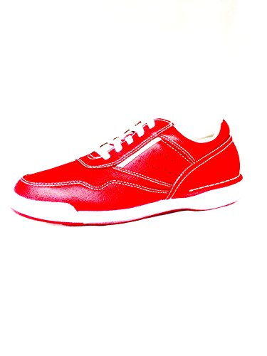 Rockport Men's M7100 Prowalker,F1 Red/White Leather,US 9.5 M (Rockport Mens Prowalker Shoe)