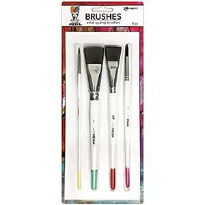 "Ranger MDA55761 Brushes 4/Pk Round 3, Fine Point 6, Flat .75"" & 1"""