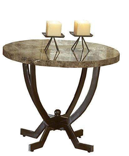 Hillsdale Furniture Monaco End Table (Marble Top Espresso)