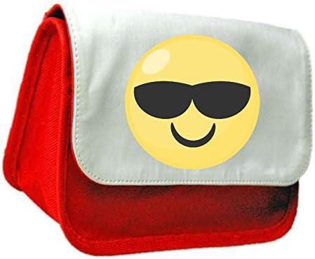 Cool cara Emoji símbolo embrague bolsa o estuche, color rosso talla única: Amazon.es: Oficina y papelería