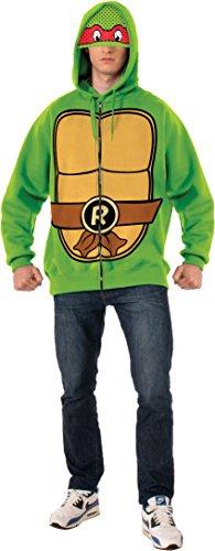 Rubie's Men's Teenage Mutant Ninja Turtles Adult Raphael Hoodie, Green, Standard -