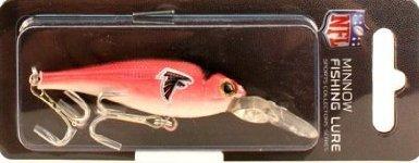 Falcon Lures (Atlanta Falcons Minnow Crankbait NFL Fishing Lure)