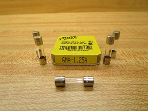 Bussmann  1.5 amps 250 volts Glass  Fast Acting Glass Fuse  5 pk