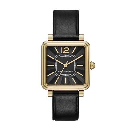 Marc Jacobs Women's Vic Black Leather Watch - - Marc Watches Jacobs Black Women
