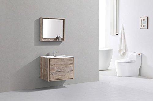 """De Lusso 30"""" Nature Wood Wall Mount Modern Bathroom Vanity -  - bathroom-vanities, bathroom-fixtures-hardware, bathroom - 41Sd0ySyAKL -"""