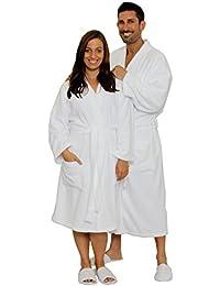 Terry Cloth Robe 100% Cotton Terry Kimono Bathrobe Terry Kimono Collar Spa Robe
