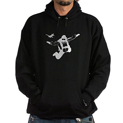 CafePress Skydiving Pullover Hoodie, Classic & Comfortable Hooded Sweatshirt Black (Hoodie Mens Skydiving)