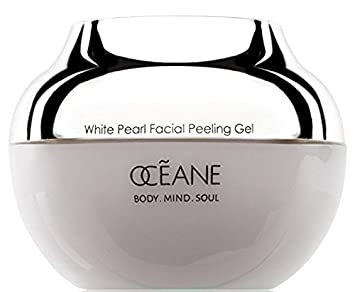 Oceane Beauty Facial Peeling Gel 100 White Pearl Infused for Maximum Microdermabrasion, Exfoliating Skin Care Treatment with Pearl Powder for Women and Men, 1.7 oz