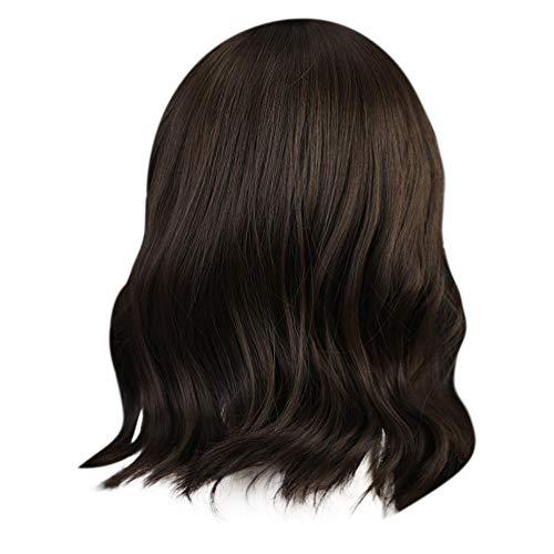 Get Real Doughnut Costumes - Iusun Wigs,12'' Brown Hairshort Women's Short