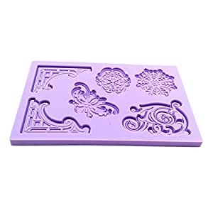 Decorative Pattern Embossed Fondant Mold Silicone Cake Mould Decorating Tool