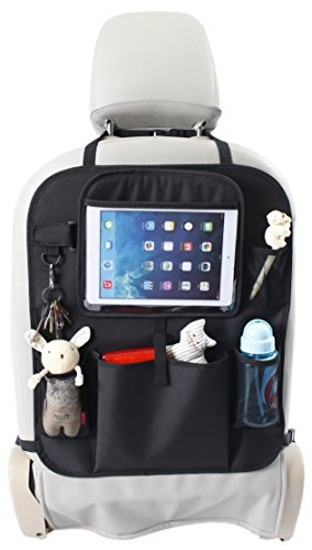 Lowest Price! Backseat Car Organizer for Kids with Tablet Holder + BONUS Cling Sunshade for Car Wind...