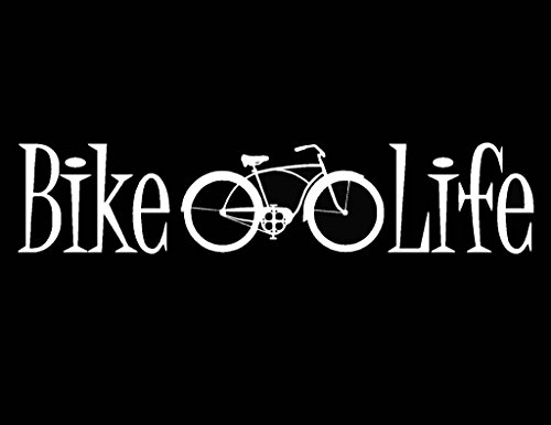 Bike Life Bicycle Decal Vinyl Sticker|Cars Trucks Vans Walls Laptop| White |7.5 x 2 in|CCI1151 (Bike Tires Felt)