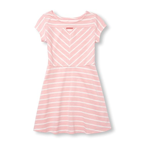 The Children's Place Big Girls' Short Sleeve Pleated Dress, Light Plum, XXL(16) by The Children's Place