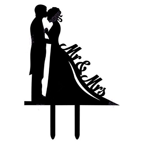 - Creative Acrylic Kissing Lovers Wedding Engagement Cake Decor Accessory Inserted Card Wedding Cake Topper Party Decor Supplies