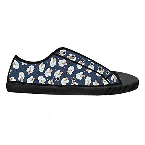 Dalliy Schaf Muster Mens Canvas shoes Schuhe Lace-up High-top Sneakers Segeltuchschuhe Leinwand-Schuh-Turnschuhe A