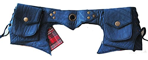FUNKY FAIR TRADE LEDER BOHO HIP HIPSTER SCHNALLE Handtasche Tasche von Albannach Punk lila