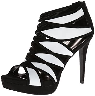 Carlos by Carlos Santana Women's Strata Dress Sandal,Black/White,6 M US
