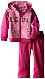 ASICS Little Girls\' Toddler Girls 2 Piece Big Love Set, Sachet Pink, 4T