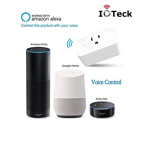 IoTeck Smart Wi-Fi Plug Compatible With Alexa, Echo, Google Home, IFTTT, and Smart Life, Mini Smart Socket with Timer Function, No Hub Required, 15A, 2 Pack by IoTeck (Image #5)