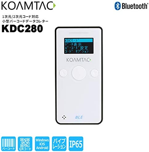 [해외]KOAMTAC 소형 바코드 데이터 컬 렉 터 KDC280 (1 차원2 차원 코드 인식, Bluetooth 연결, USB 동글, 충전 크래들 세트) / KOAMTAC Small Barcode Data Collet KDC280 (1D2D Code Support, Bluetooth Connection, USB Dongle, Charging Cradle Set)