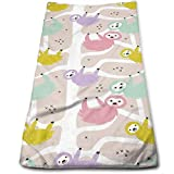 DAPANLA Sloth Animal Cute Towels Ultra Soft Absorbent Wash Cloths - Hair Towels Pet Towels Car Towels