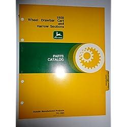 John Deere 1800 Wheel Drawbar Cart and Harrow Sections Parts Catalog Book Manual Original PC1503