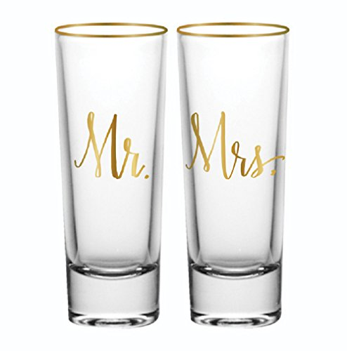 Mr and Mrs Shot Glass Set of 2 by Slant Collections