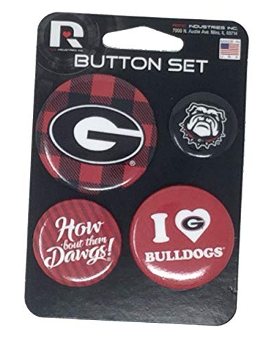 Rico Industries NCAA Georgia Bulldogs Team Button Set