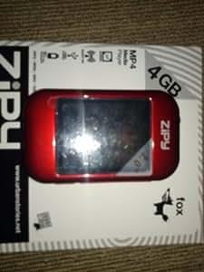 Zipy FOX - Reproductor 4096 MB Rojo