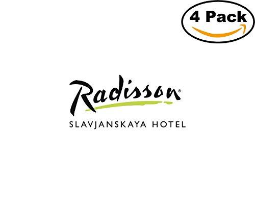 Radisson Slavjanskaya Hotel 4 Stickers 4X4 inches Car Bumper Window Sticker Decal