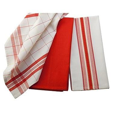 Le Creuset Kitchen Towels, Flame