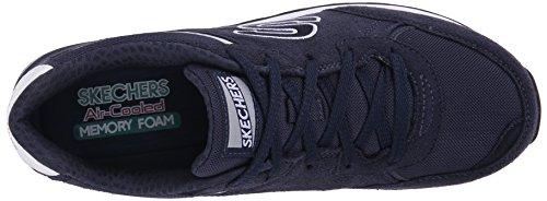 Skechers OG 82Flynn, Sneakers Basses Femme Bleu Marine