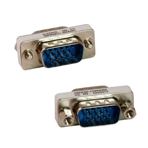 Tekit 15 Pin HD SVGA/ VGA M-M Male-Male Gender Bender Changer Adapter Convertor by - Converter Gender
