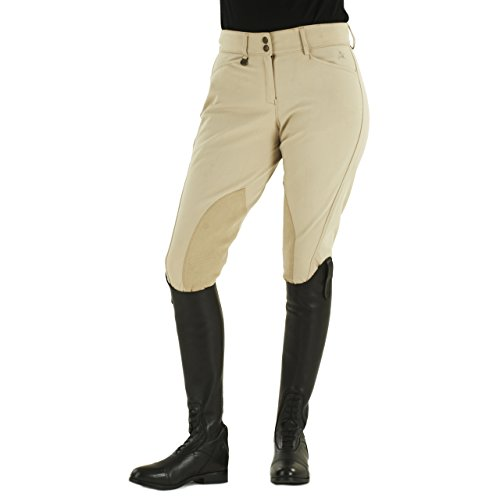 Ovation Euroweave Ladies Breech (Ovation Ladies' Euroweave DX Taylored Front Zip Breeches)