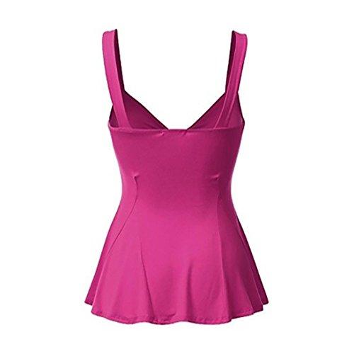 Blouse Top Crop T Shirts Sexy Rose Debardeur Boho Manches Casual Sexy Femme Femmes Camisole sans Gilet Vif Fathoit Dbardeurs vFIqx