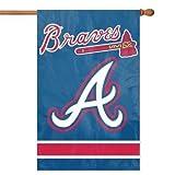 Atlanta Braves 28x44 Premium Embroidered Applique Banner Outdoor Flag Baseball