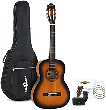 Set de Guitarra Clasica 3/4 de Gear4music Sunburst: Amazon.es ...