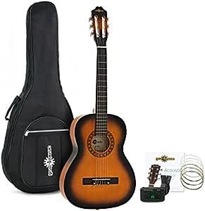 Set de Guitarra Clasica 3/4 de Gear4music Sunburst: Amazon.es ...