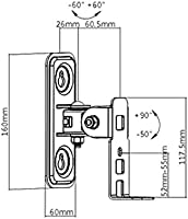 bianco carico 2 kg 2 coppie inclinabile Supporto da parete per altoparlante SONOS ONE//SL Play 1 Boxe