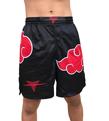 Red Dawn Ninjas Fight Shorts Youths & Mens (Adult XXXL: Waist 40