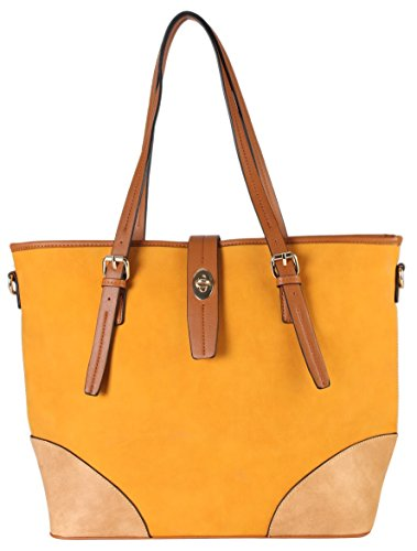 diophy-pu-leather-two-tone-large-tote-accented-with-turn-lock-belt-womens-purse-handbag-cl-3500