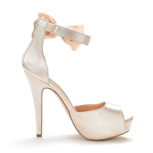 PAIRS SWAN Women's Gold Strap Ankle Shoes Sandals DREAM Heel Pump 08 FqdwFE