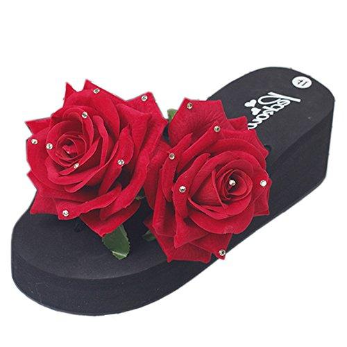red Estate Donna 1 Slides Zanpa Scarpe Fiore Sandali 04n7xH