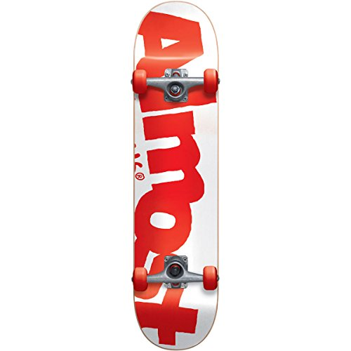 Skateboard Complete,7.625FU,White/Red ()