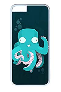 iPhone 6 Case, Personalized Unique Design Protect Covers for iPhone 6 PC White Edge Case - Cartoon Octopus