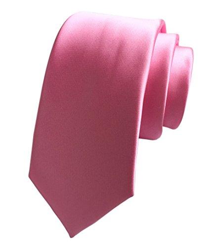 Secdtie Men's Pink Neckties Silk Tie For Men Suit Fitness Dating Fashion Gift 03 (Necktie Silk Chain)